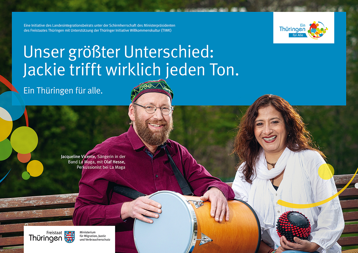 """Frau Vicente und Herr Hesse von der Band """"La Maga"""" aus Jena"""