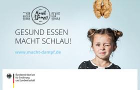 """Kampagnenbild des BMEL für gesunde Ernährung in Kitas und Schulen """"Gesund essen macht schlau!"""""""