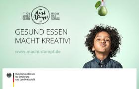 """Kampagnenbild des BMEL für gesunde Ernährung in Kitas und Schulen """"Gesund essen macht kreativ!"""""""