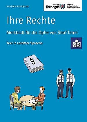 Cover Ihre Rechte - Merkblatt für Opfer in Leichter Sprache